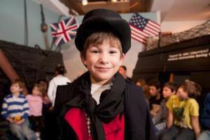 USS Constitution Museum kid pic